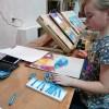 Воспитанники Детской Художественной школы продемонстрировали работы в технике граттаж