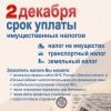 2 декабря 2019 года – срок уплаты имущественных налогов