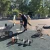 В Тынде на центральной детской площадке начали устанавливать большой игровой комплекс