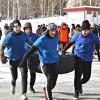Традиционно 23 февраля на площади 25 – летия БАМа прошла общегородская спортивная эстафета «Сибирские парни»