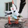 В День семьи, любви и верности состоялось торжественное открытие скульптурной композиции «Аисты»