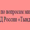 МО МВД РОССИИ «ТЫНДИНСКИЙ»