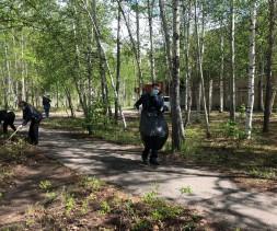 Сотрудники городской администрации вновь вышли на экологический субботник.